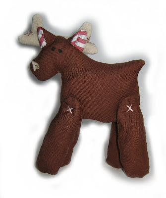 handmade, reindeer, christmas,xmas, gift, sewn, sewing, fabric, festive, decoration, toy