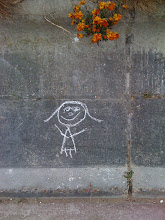 &#39;Jumping Girl&#39; graffiti, Viking Bay, Broadstairs.