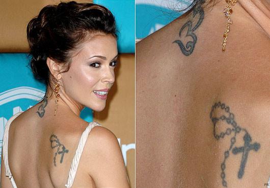 Alyssa Milano Tattoos - Celebrity Tattoo Removal Candidate