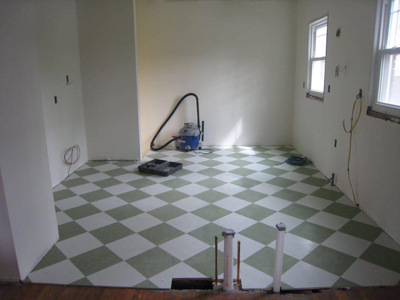 Kitchen Floor & Life at the Little Brick House: Kitchen Floor