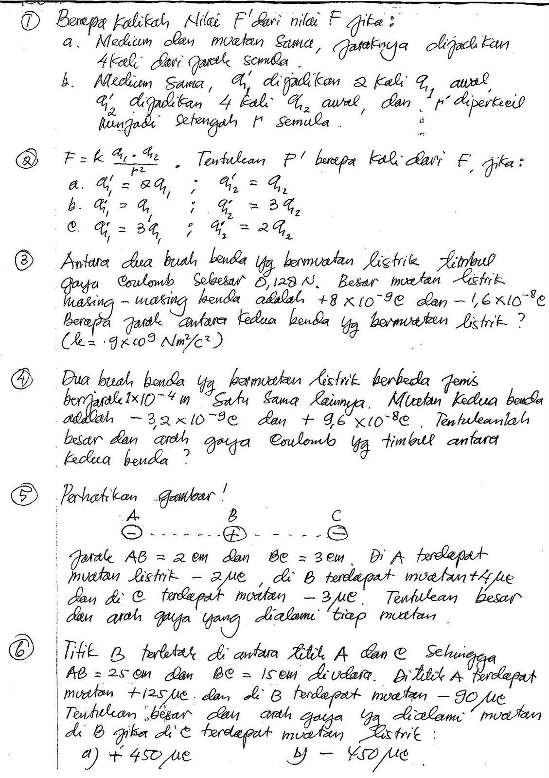 Starbung Fisika Kelas 9 Listrik Statis