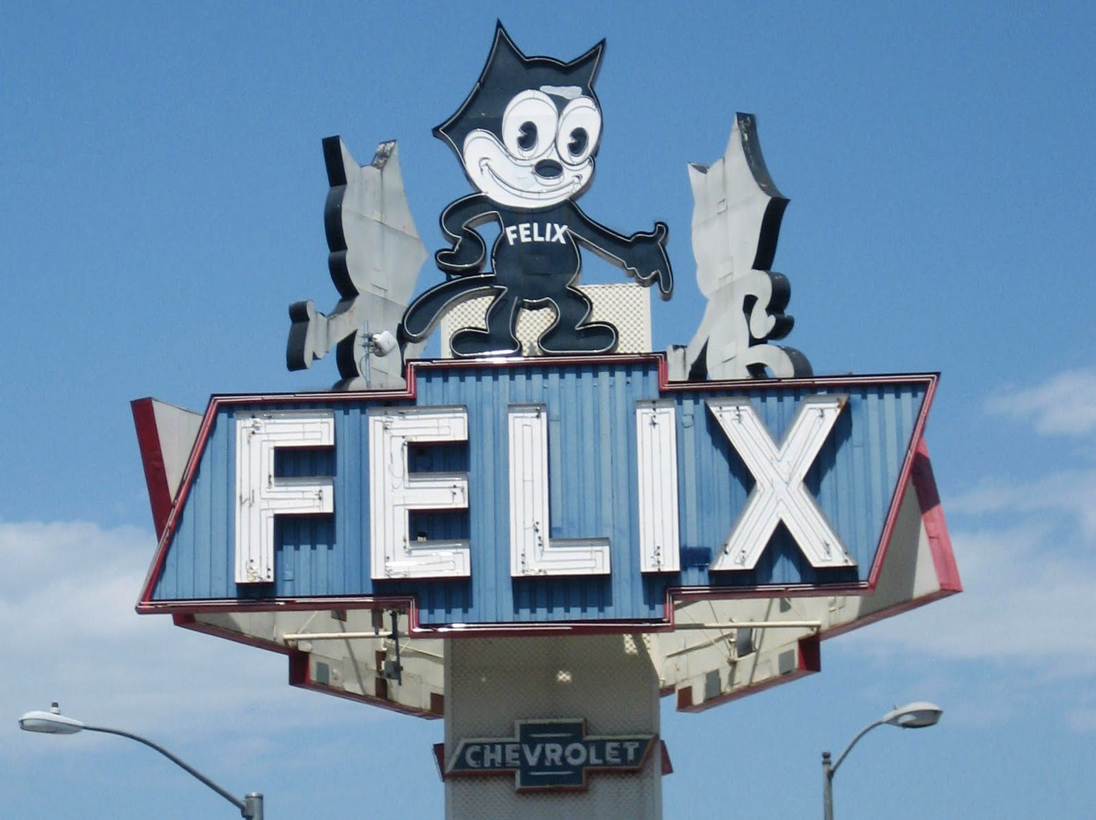 Unlike Most Of L.A.u0027s 1950s Signs, The Felix Chevrolet Sign Is Protected  From Unilateral Demolition Or Alteration Because It Was Designated As A  City Of Los ...