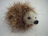 cute knitted hedgehog