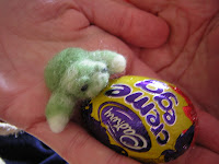 turtle and cadbury egg for easter