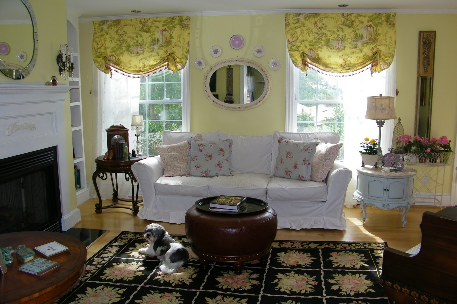 Maison decor french country enchanting yellow white - Living room ideas french country ...