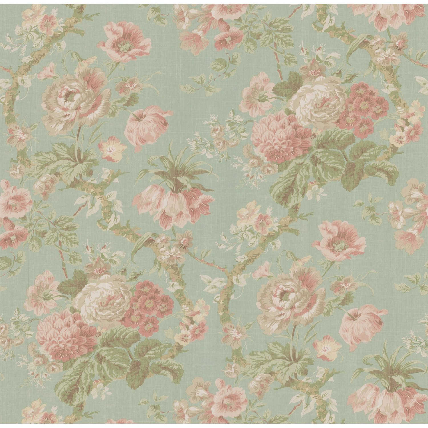 Old Paper Wallpaper: La Fleur Vintage: Floral Wallpaper