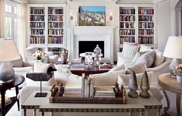 Maison decor designer idea for quiet bookshelves for Living room bookcases built in