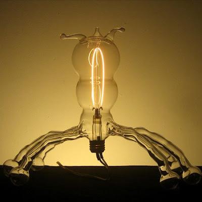 hand-blown light bulbs