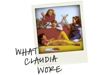 What Claudia Wore