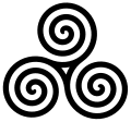 GAELIC TRIPLE SPIRAL SYMBOL