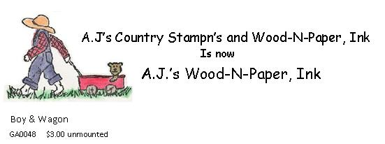AJ's Country Stampn's   Wood-n-Paper, Ink