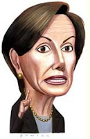 Characture of Nancy Pelosi