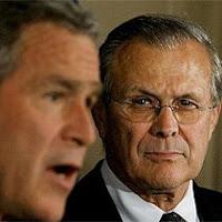 L-Bush R-Rumsfeld