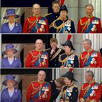 Prince Phillip 2nd left, Farts