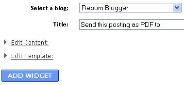 Send Blog Posting PDF