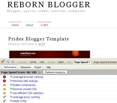 Speed Up Reborn Blogger Blog