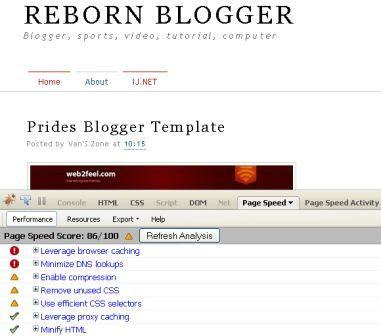 Speed Up Reborn Blogger Blog