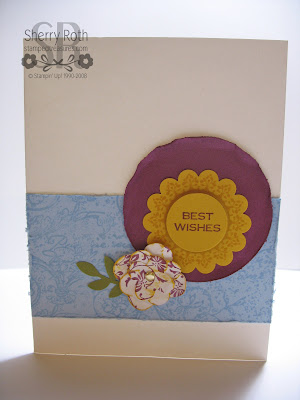 Vintage Best Wishes Card