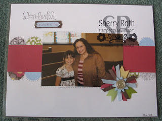 Wonderful Grandma Scrapbook Page