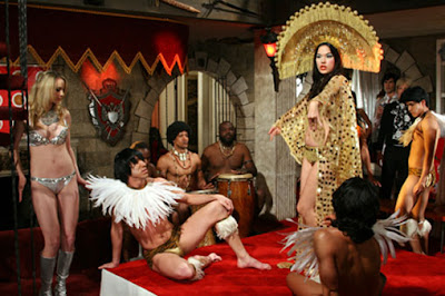 Viva - Anna Biller (in headdress) during the orgy scene.