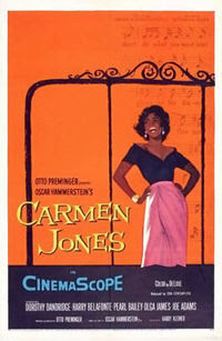 Carmen Jones poster by Saul Bass