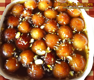 Sweet Potato Gulab Jamuns - Ramani's Recipes