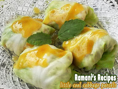 Little Cool Cabbage Parcels - ©Ramani's Recipes
