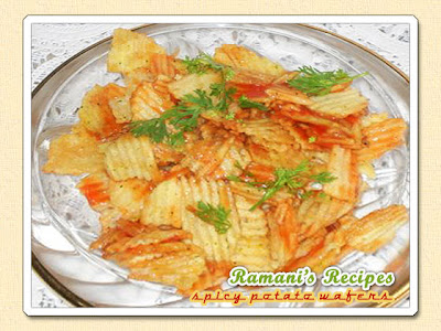 Spicy Potato Wafers - Be Great Chefs series of recipes for kids at Ramani's Recipes