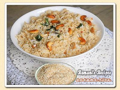 Sesame Rice - Ramani's Recipes