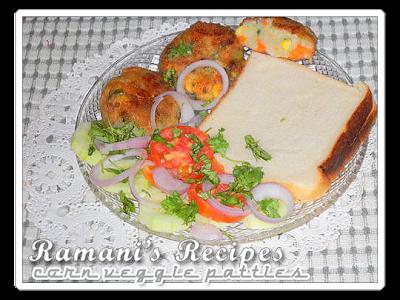 Corn Veggie Patties - Ramani's Recipes