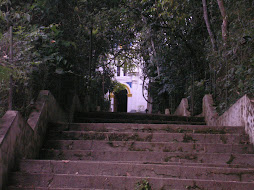 escadaria da ermida do Parque de São Lourenço