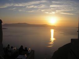 Pôr do sol em Santorini - Grécia