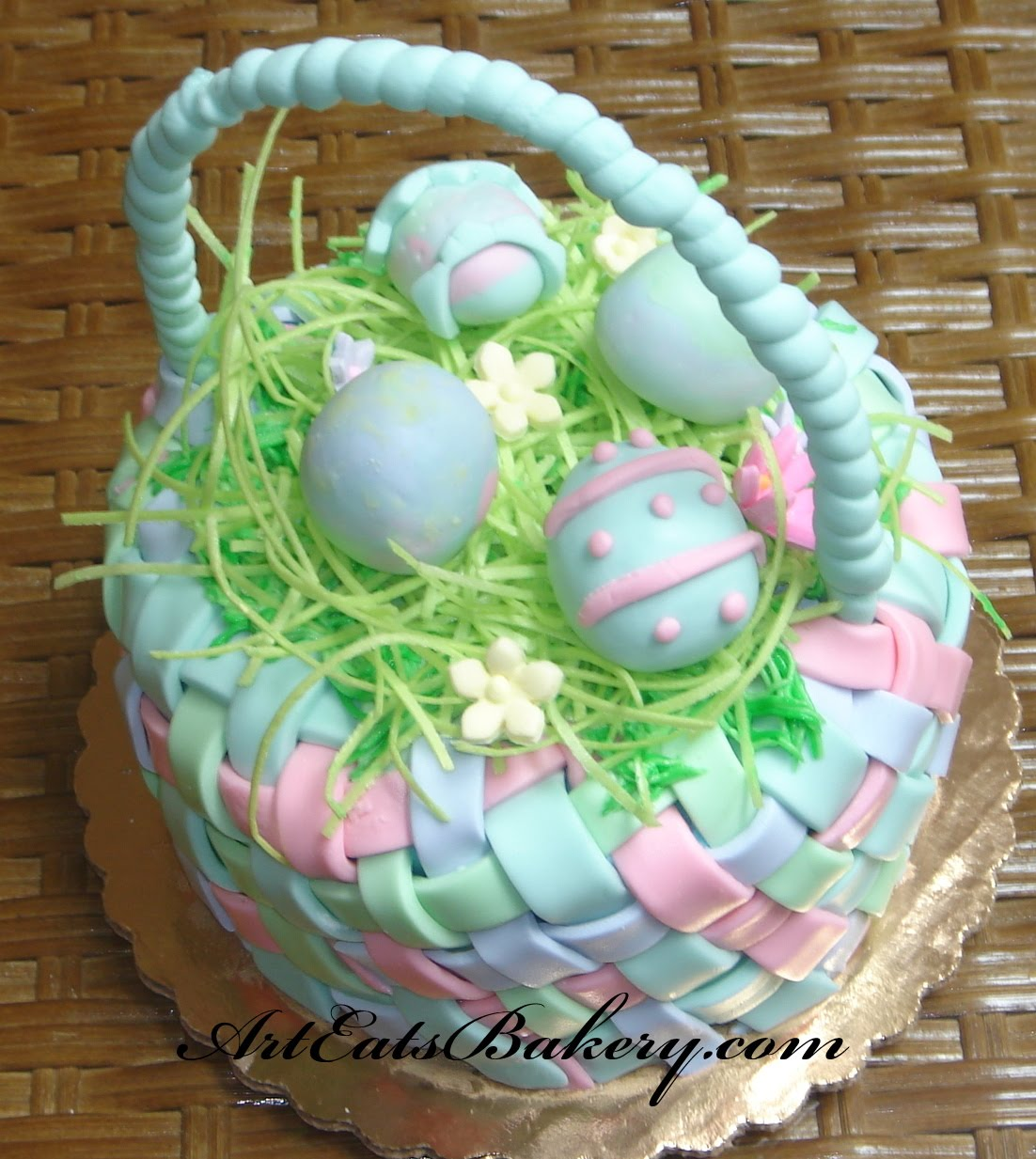 Easter Basket Cake Decorating Ideas : Art Eats Bakery custom fondant wedding and birthday cake ...