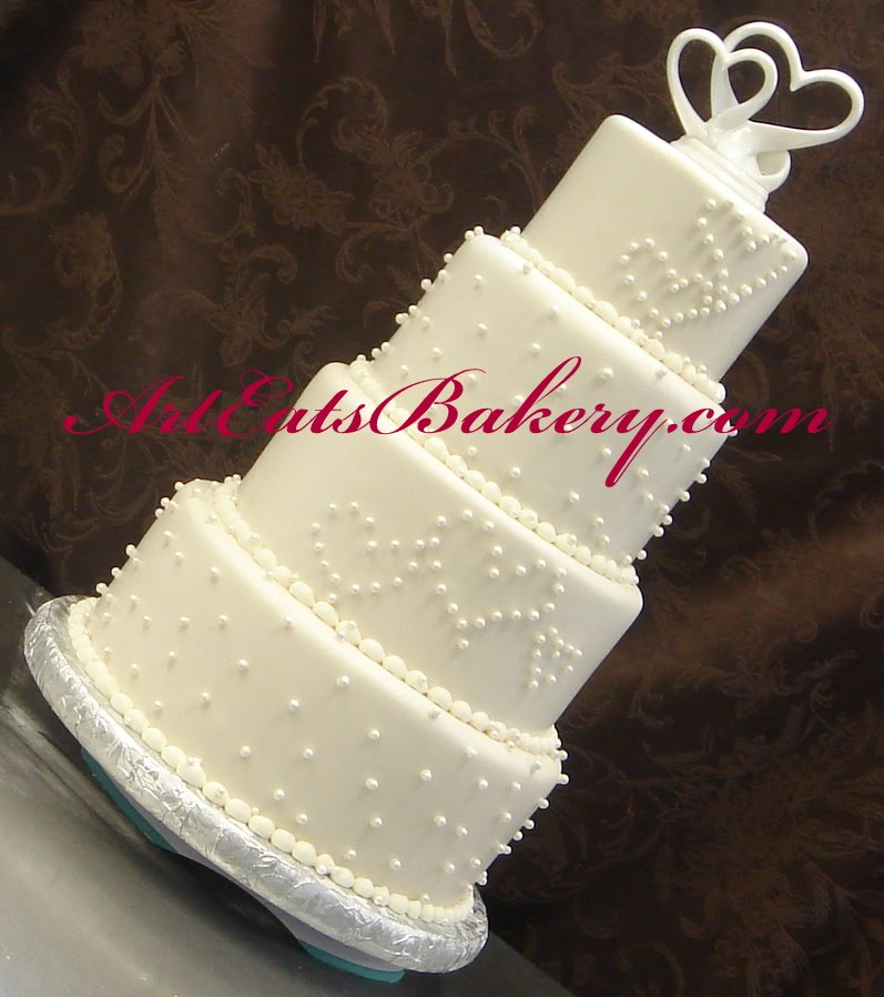 wedding cake toppers hearts