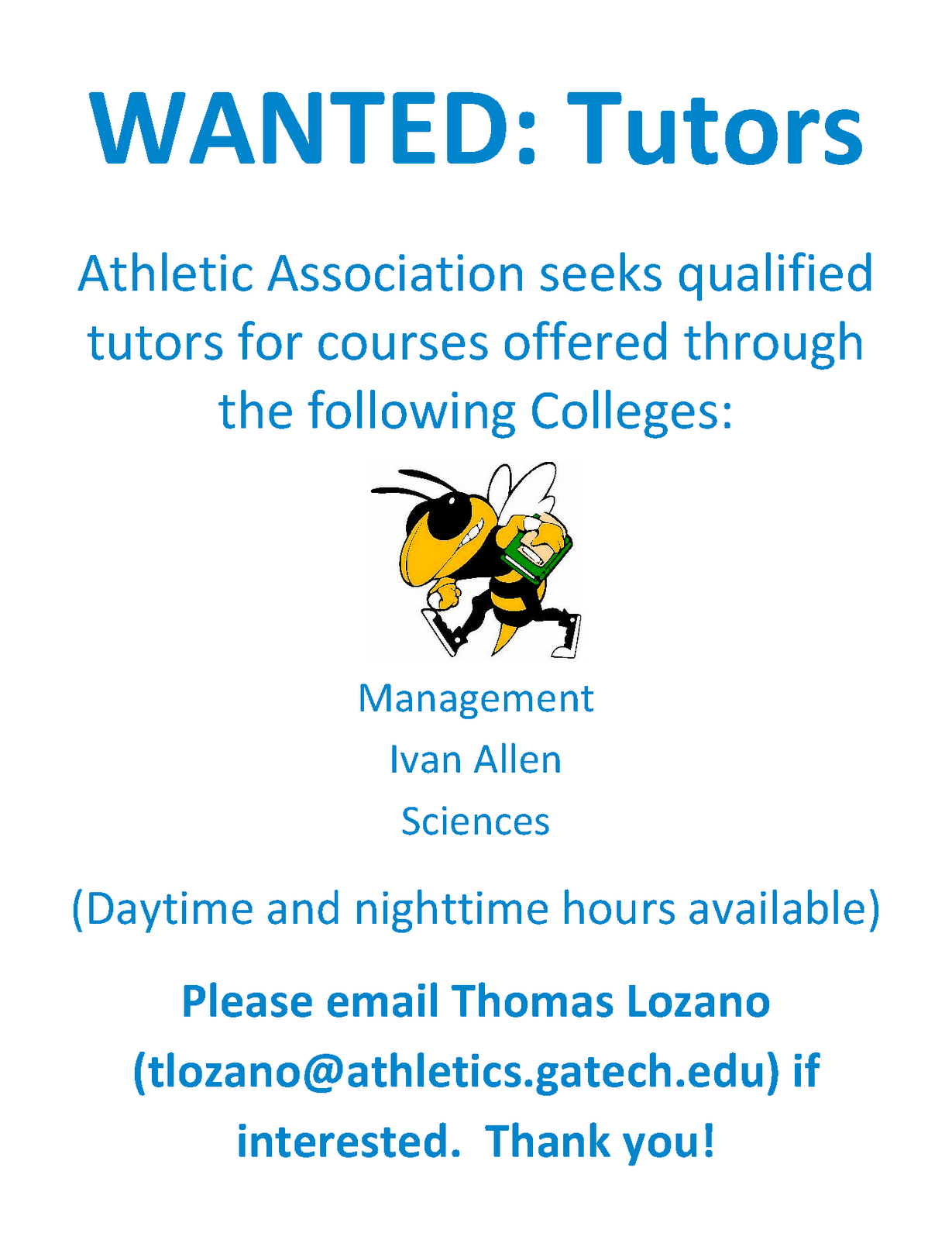 gt hsoc student blog athletic association tutors needed for athletic association tutors needed for spring 2011