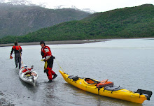 Dragging boats - to the Tyndall Glacier?