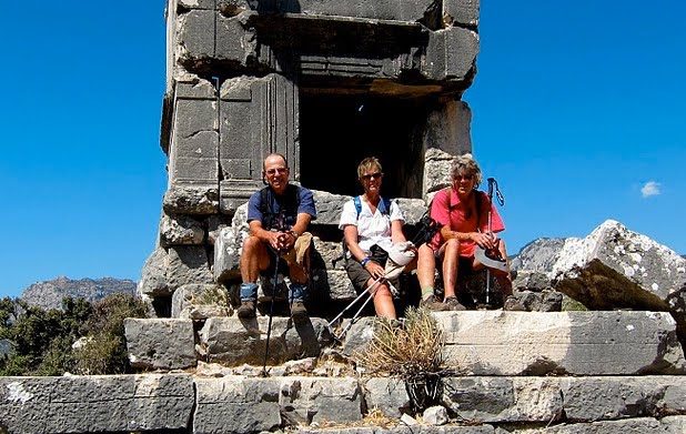 A sarcophagus at the end of our Lycian Way journey - a meaningful place to rest for a while?