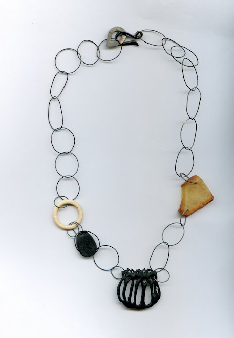 K-48, silver, copper, bone, amber