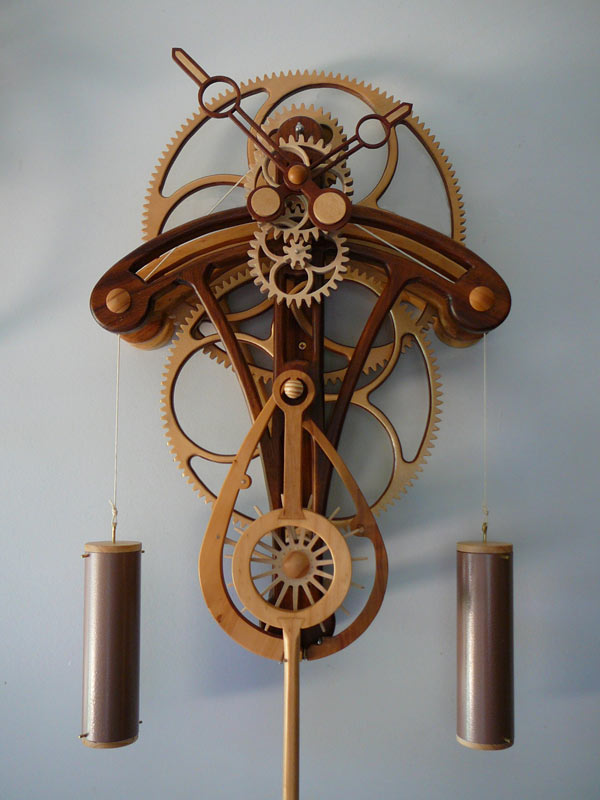 Wooden Gear Clock Plans by Clayton Boyer
