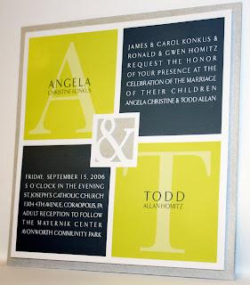 Square Modern Wedding Invitation
