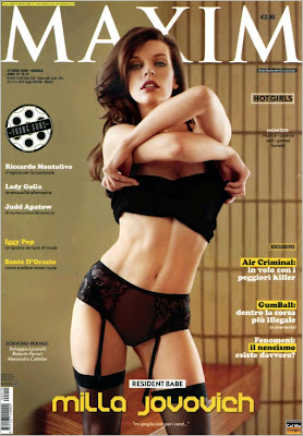 Mila Jovovich in Italian Maxim