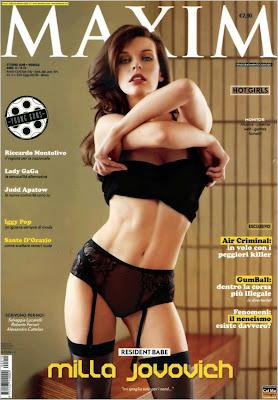 Mila Jovovich in Italian Maxim
