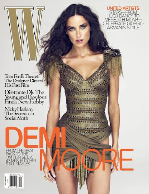 Demi Moore on W Magazine Covers December 2009