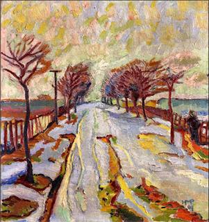 March Snow by Max Pechstein