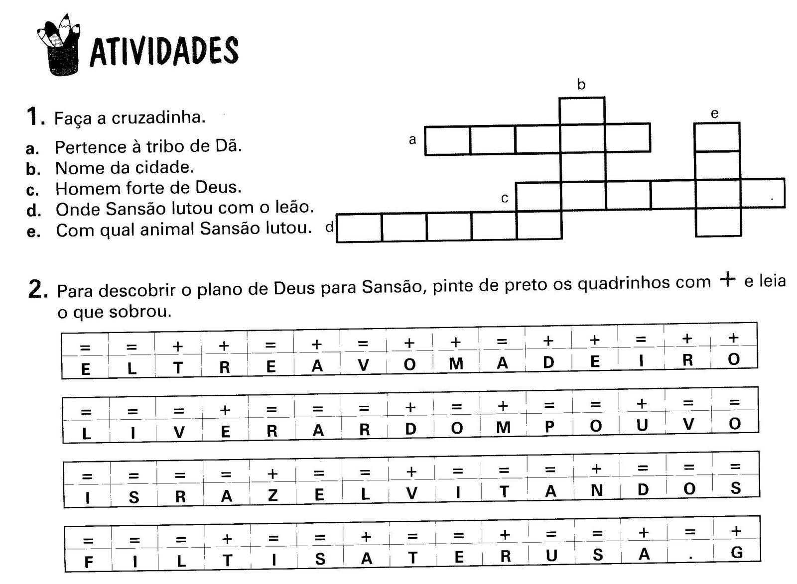 SANS  O   ATIVIDADES
