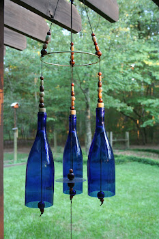 Blue Glass Wind chimes