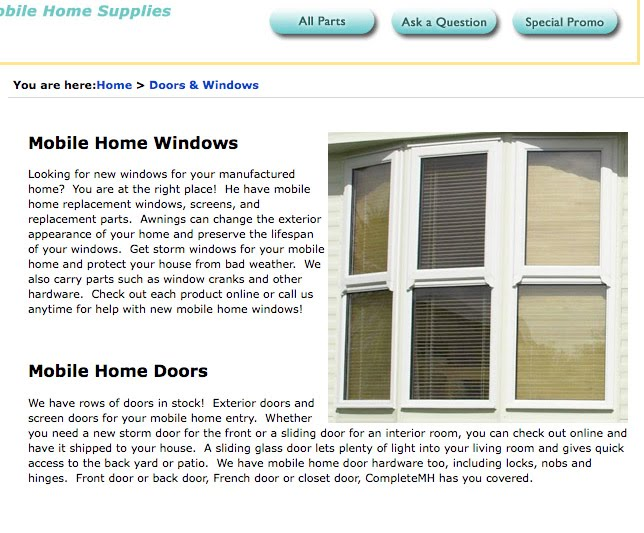 Awesome 37 images mobile home windows kelsey bass ranch for Mobile home replacement windows