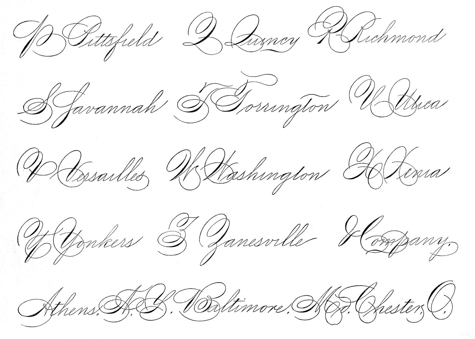 Different Types Of Calligraphy Writing Free Printable Alphabet A To Z Styles And Samples Alphabets