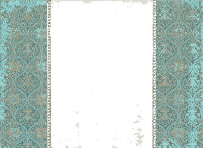 free blog background damask turquoise