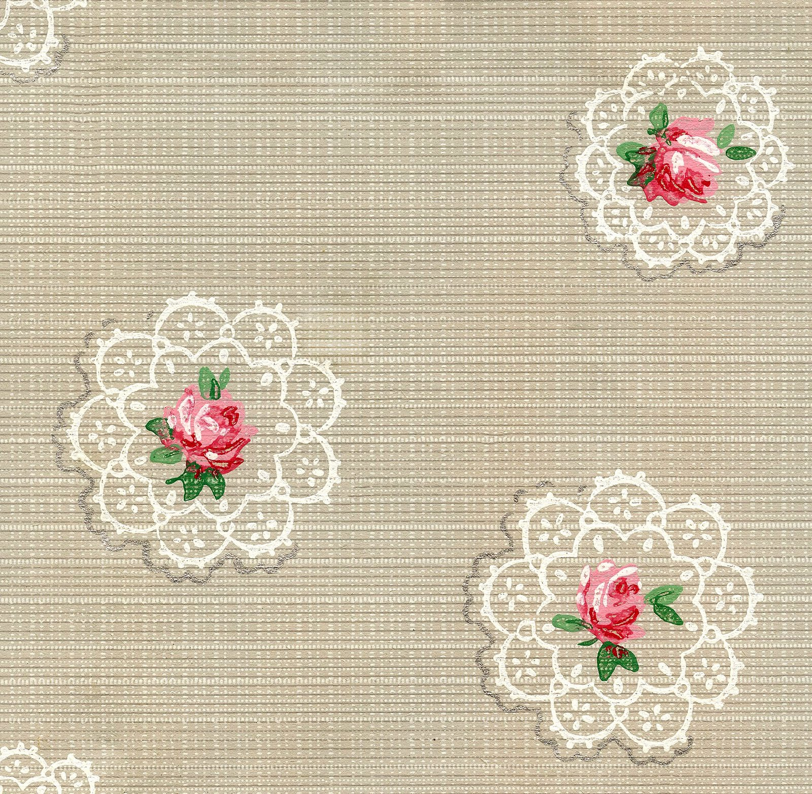 I had a request for Vintage Wallpaper and Doilies and as it turns out,